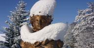 Buste de Marianne sur le pont de la République