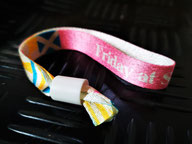 printed polyester fabric wristband