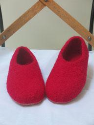 Filzhausschuhe für Damen Groesse 36 rot