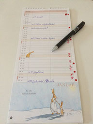 Kalender der Delmenhorster Schriftstellerin Katy Buchholz mit ein paar Eintragungen