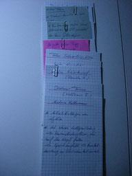 Notizen der Delmenhorster Schriftstellerin Katy Buchholz