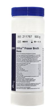 211767 BD Difco™ Base de Caldo Fraser, 500 g