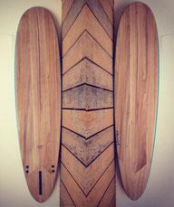 Paulownia wood surfboard Elleciel