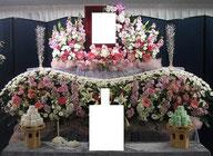 春日部市 格安家族葬 生花祭壇