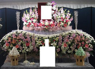 日高市 格安家族葬 生花祭壇