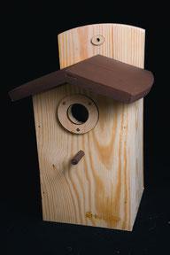 Купить деревянный скворечник с летком 35мм.