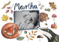 individualisierbare Geburtskarte HERBST - ab 180€