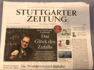 Christian Hesse auf der Titelseite der Stuttgarter Zeitung, 02.01.2021
