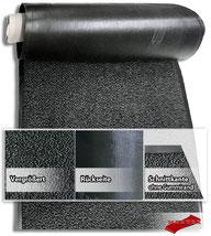 MERTEX-Shop - Sauberlaufmatte, Schmutzfang OSLO, 6 Farben, Polypropylen, Velours, Vinyl, schwarzer Gummirand