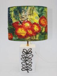 lampe paier soie peint