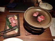 牛タン陶板焼き 肉が硬〜い!