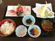 お刺身天婦羅定食 ¥1650