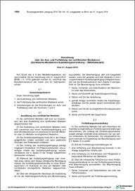 Screenshot Verordnung über Aus- und Weierbildung von zertifizierten Mediatoren