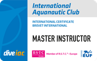 International Aquanautic Club Brevet Master Instructor