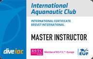 International Aquanautic Club Brevet Master Instructor