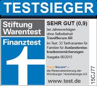 TravelSecure - Die Reiseversicherung der Würzburger Versicherungs-AG: Der umfassende Schutz für jede Reise Schnell – sicher – online abschließbar (einfach auf den obigen Button klicken)