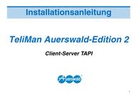 Titelbild Installationsanleitung TeliMan Auerswald-Edition 2, Client-Server TAPI , Auerswald ETS-2104 I