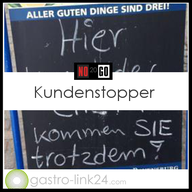 Kundenstopper vor Restaurants