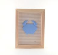 Cadre origami Crabe - Format 13 x 18cm - 25€