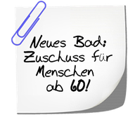 Neues Bad: Zuschuss für Menschen ab 60! Installationen Mair
