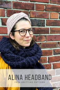 Alina Headband Free Knitting Pattern