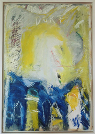 "Hans Mendler ""Dorf"" 18. 8. 1997, 53 x 76 cm Acryl auf Papier_2. Preis 1200.-€"