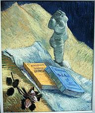 ゴッホの静物画で描かれる本には「ベラミ」が出てくるものもある。