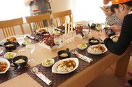 牧クッキングサロンテーブルコーディネイト一例