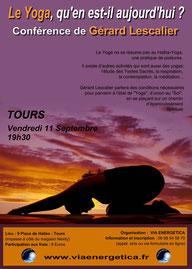 Gérard Lescalier à Tours - conférence organisé par VIA ENERGETICA