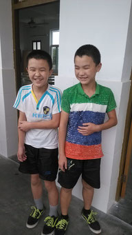 Twin students Zhimin and Zhiying