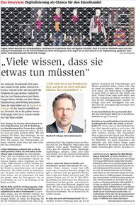 Digitalisierung als Chance für den Einzelhandel, ZZ Interview von Bert Albers mit Manfred W. Schoppe von mehrWEB.net, Tarmstedt