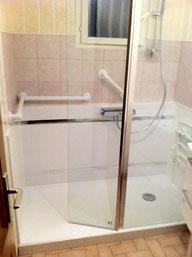 Mas eco Douche sécurisée - Personnes à mobilité réduite - Remplacement baignoire par douche