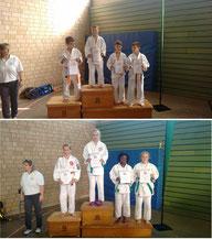 Kevin Frik (Bild oben) wurde Nordhein-Meister, Marie Abilong Boyomo (Bild unten 2. von rechts) belegte Platz 3