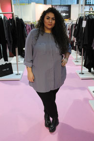 Plus-Size-Model Dominique Esterlich auf der Curvy 2016