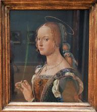 St Justina of Padua, 1490s, Bartolomeo Montagna, Metropolitan Museum of Art. Photo: Nina Möller