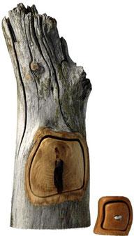 coffret en bois récupéré de l'artisan récupérateur Deni Forest