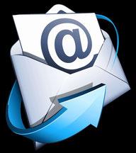 Briefumschlag mit Pfeil und @