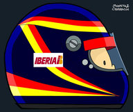 Helmet of Emilio de Villota by Muneta & Cerracín