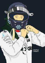 Nico Erik Rosberg by Muneta & Cerracín