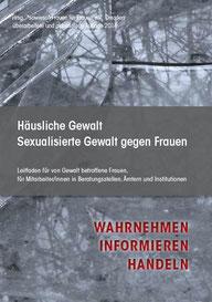 Broschüre häusliche Gewalt/sexualisierte Gewalt gegen Frauen