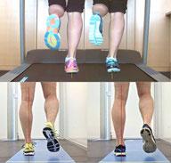 Laufschuhe vergleich, Laufband, Gehstrecke