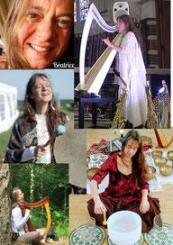 Musique, chant bol, harpe, méditation, relaxation