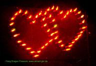 Doppelherz Lichterbild Feuerwerk