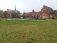 Rammarbeiten am Cospudener See bei Leipzig
