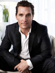 Matthew McConaughey, Mercure opposé Saturne, maisons VI/XI.