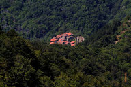 Vista del villaggio montano della Rocca Ricciarda nel comune di Loro Ciuffenna - Arezzo