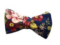 Anzug Fliege zum binden - Schleife blau blumenmuster blumig floral