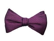 Elegante Fliege violett lila gemustert zum selberbinden