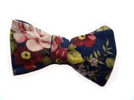 Herren Anzug Fliege zum selbstbinden - Schleife blau blumenmuster blumig floral