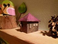 武田せつこさんの木彫りの家